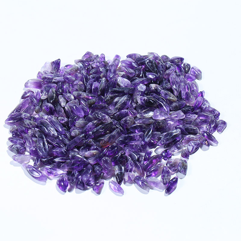 Wholesale Natural Gemstone Amethyst Tumbled Stone Amethyst Crystal Gravel for Healing
