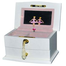 High quality painted wooden dancing musical jewelry gift boxes