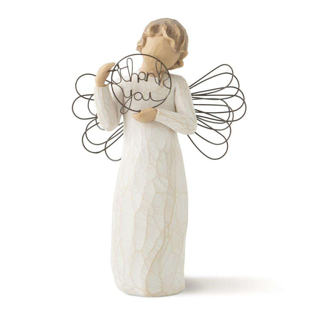 wholesale polyresin willow tree angel figurines of Thank You