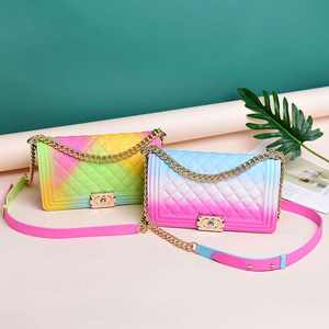 Wholesale Hot Selling Fashion Candy Color JELLY bag Purses Girls women mini Handbags