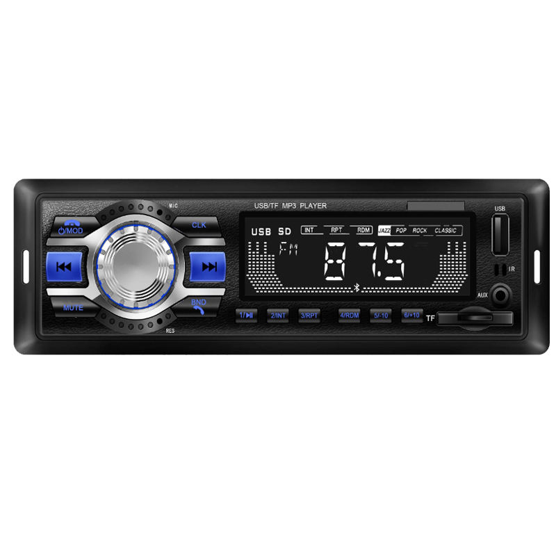 Wholesale car radio fm mp3 speaker players bluetooth car audio stereo 1 din with remote control