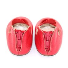 Top Selling Durable Red Solid Color anti-slip baby Girl Dance Shoes