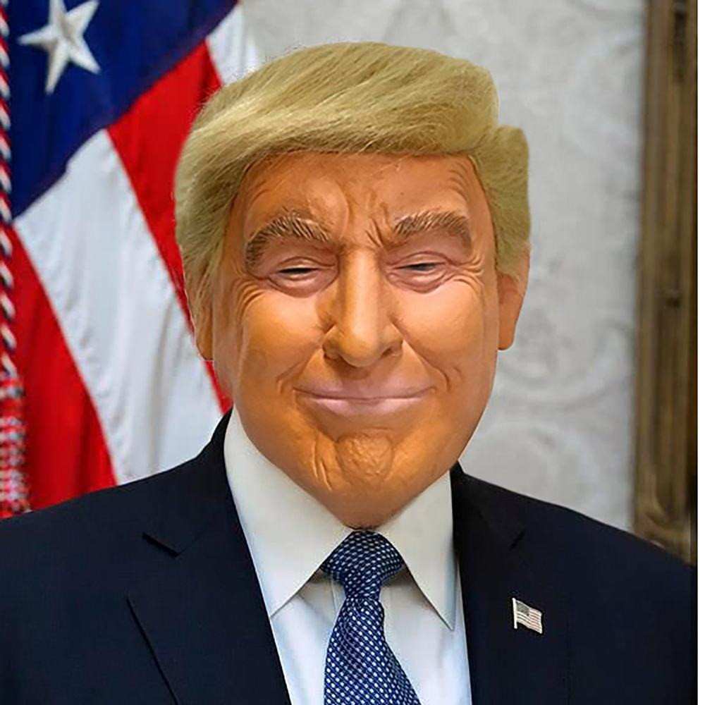 Halloween Adults Rubber Full Head Face Costume Headgear President Face Mask Latex Material Realistic Donald Trump Mask