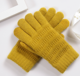 Latest women daily life warm knitted acrylic fur gloves for winter