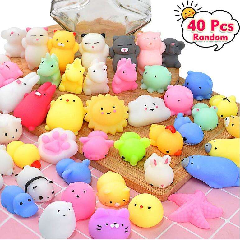 ZQX44-1 Kawaii Animal Mini Squishy Toys Stress Relief Party Favors Squishy Squeeze Toys For Kids