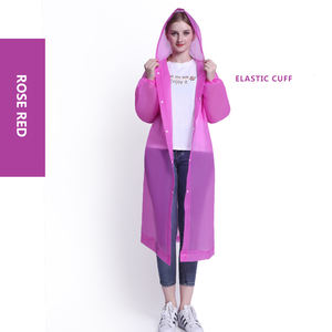 Hiking fashion adult men and women rain coat thicken EVA environmental Pink raincoats for adults