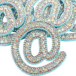 5.2*5.5cm Rhinestone Clothes Patches 3D Embroidered Sew On B