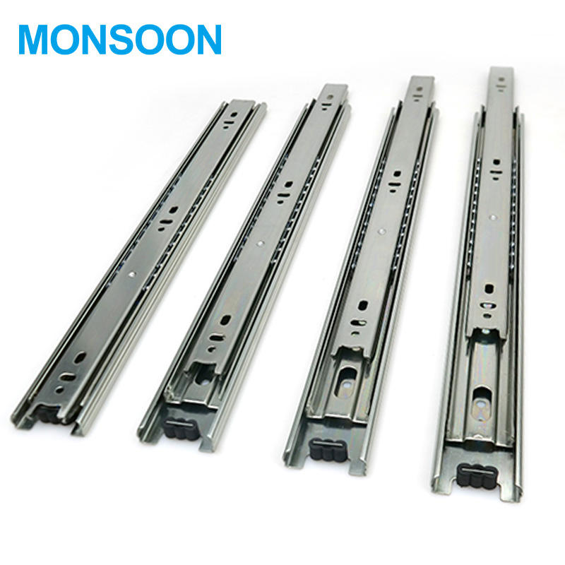 MS09 Hydraulic Triple Extension Stainless Steel Kitchen Cabinet Drawer Slide Rail