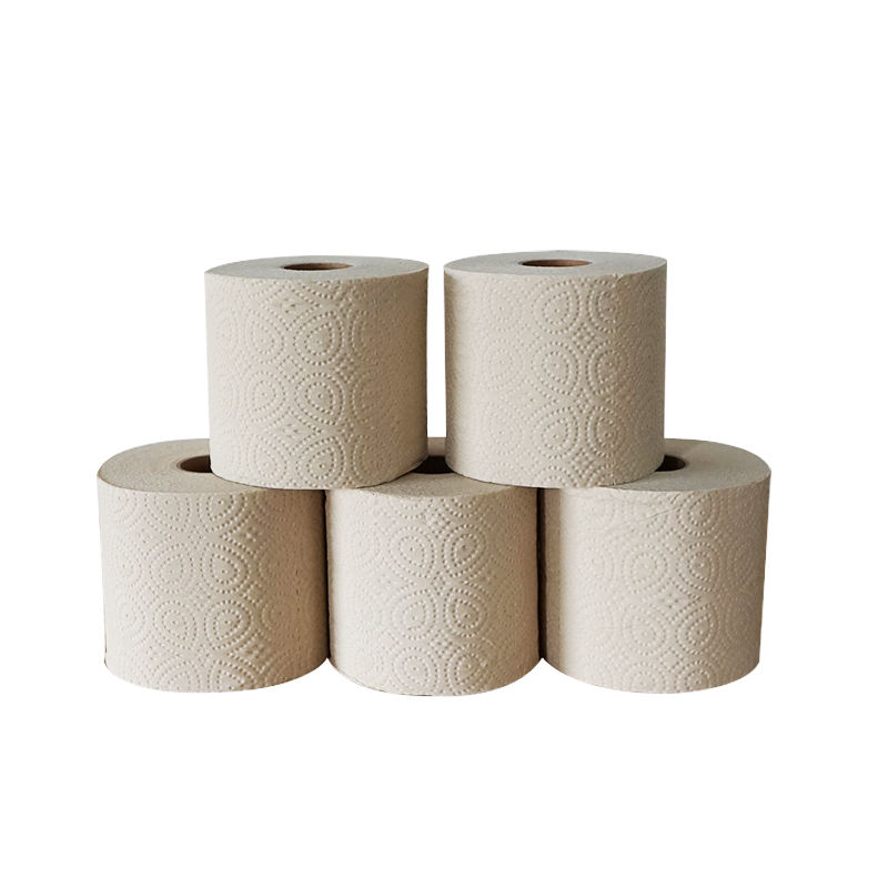 100% virgin bamboo pulp toilet paper 2 ply bathroom toilet tissue paper roll