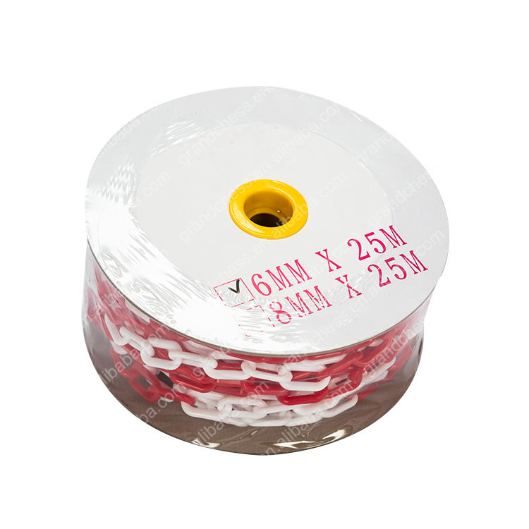 Grandchess 8mm red white traffic safety caution plastic chain