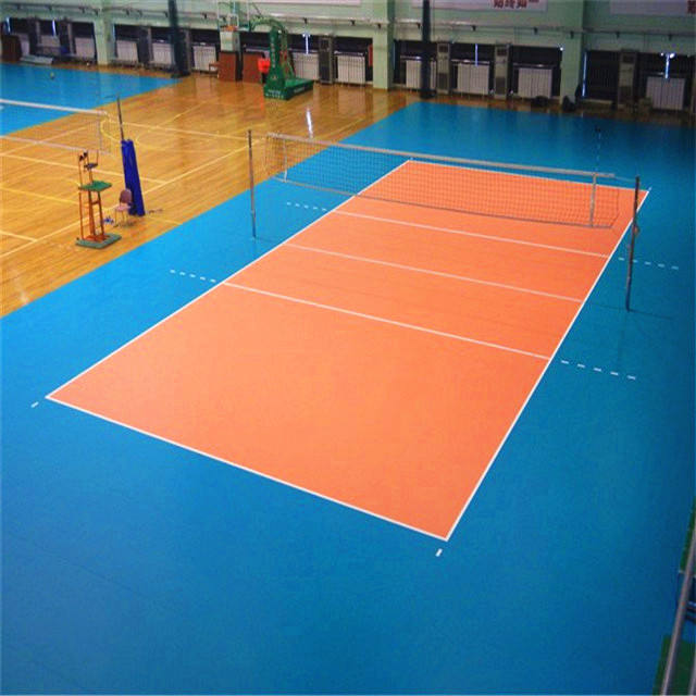 outdoor portable used volleyball court sport flooring
