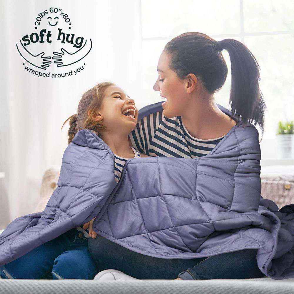 MOOKA 48X72'' 15 Lbs Blanket Weighted Blanket Kids With Glass Beads