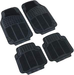 Universal Continental Rubber Car Mats - Black