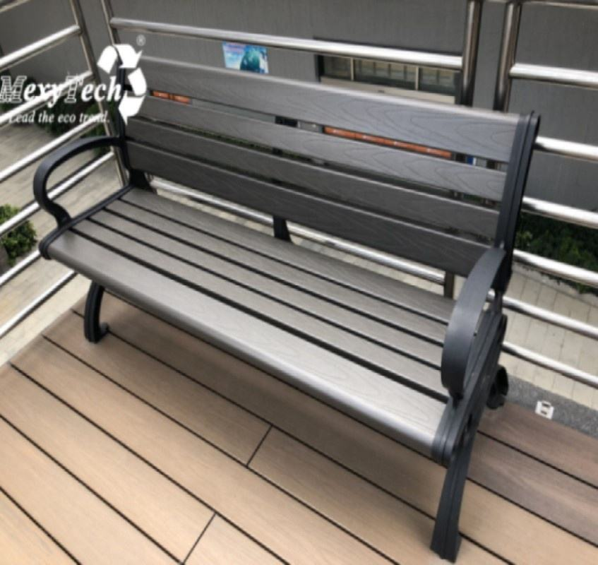 Outdoor modern garden leisure metal leg Park Bench modern garden leisure metal leg Park Bench with backrest