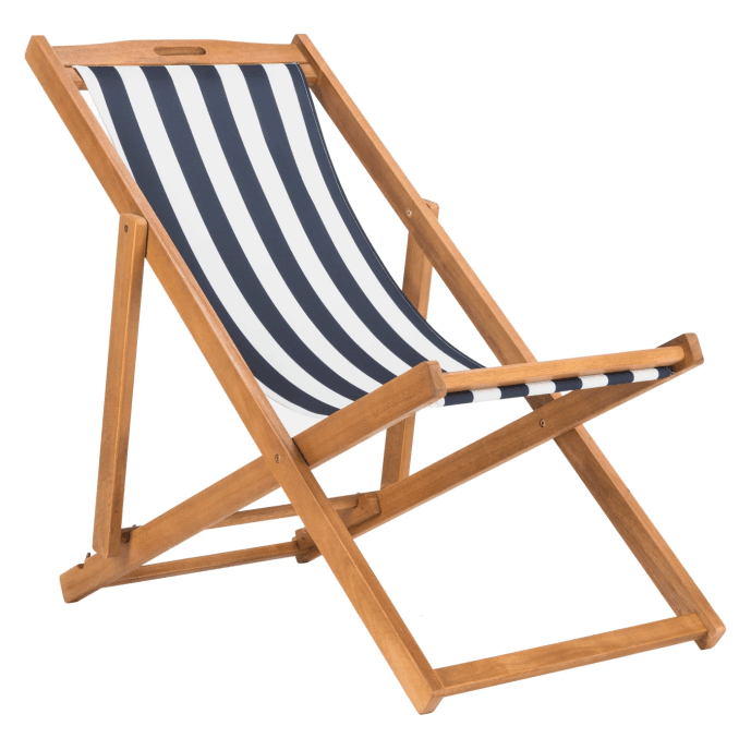 Hot Selling Bamboo Adjustable Wooden Beach Chair Folding outdoor Nap Chair Easy to Spin