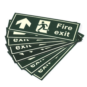 Luminous Exit Sign Warning Guidance Fire Safety Signs