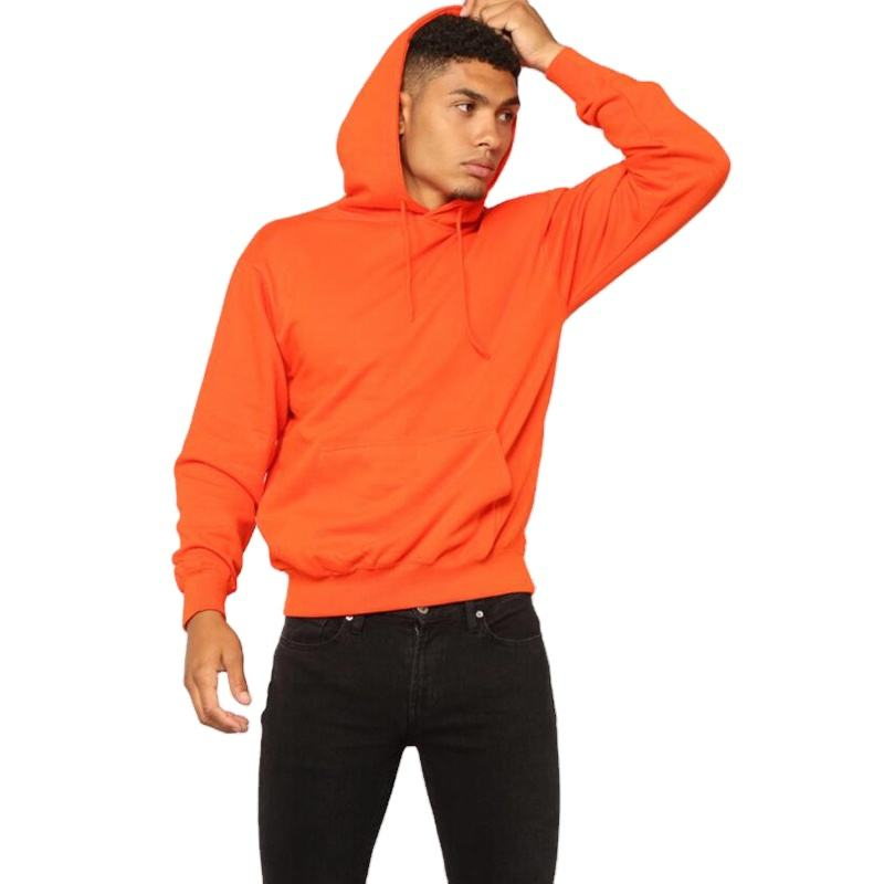 Hot sale mens hoodies high quality casual pull over hoodies wholesale
