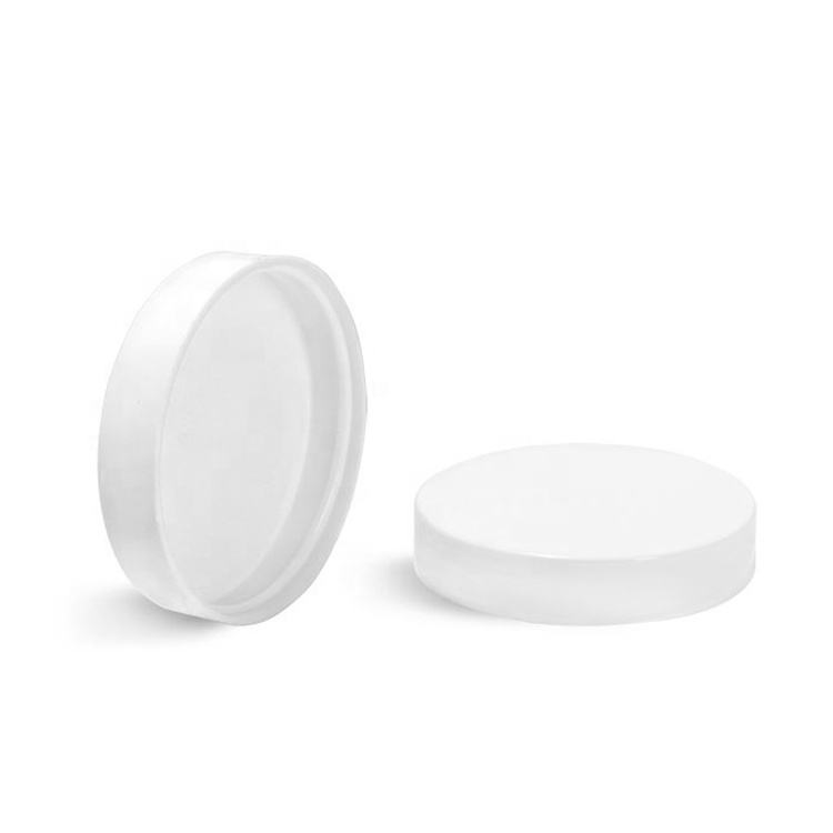 Various Sizes 38mm 48mm 53mm 58mm 63mm 70mm White Plastic PP Ribbed Screw Caps Seal Closure For Bottles