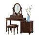 2020 new hot sale solid wood dressing table vanity cabinet in the dressing room