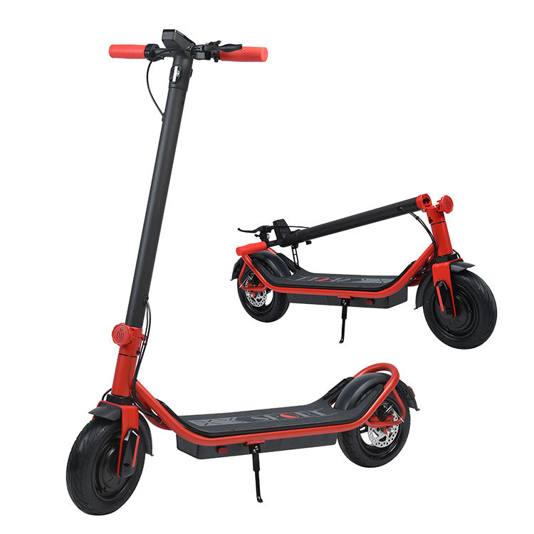 Unique Design EU Patent IU L2 350W/500W Rear Drive 10inch Fat Wheel Adult Handicapped Kick Foot Electric Gas Scooters