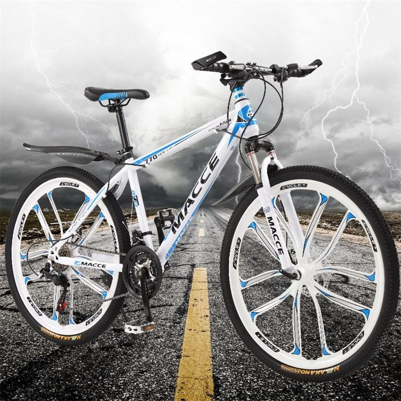 27 Speed 26 inch Cool Design Double Disc Brake Lockable Damping Front fork Bicycle Mountain Bike