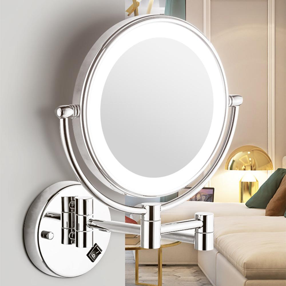 Circle vanity light moistened