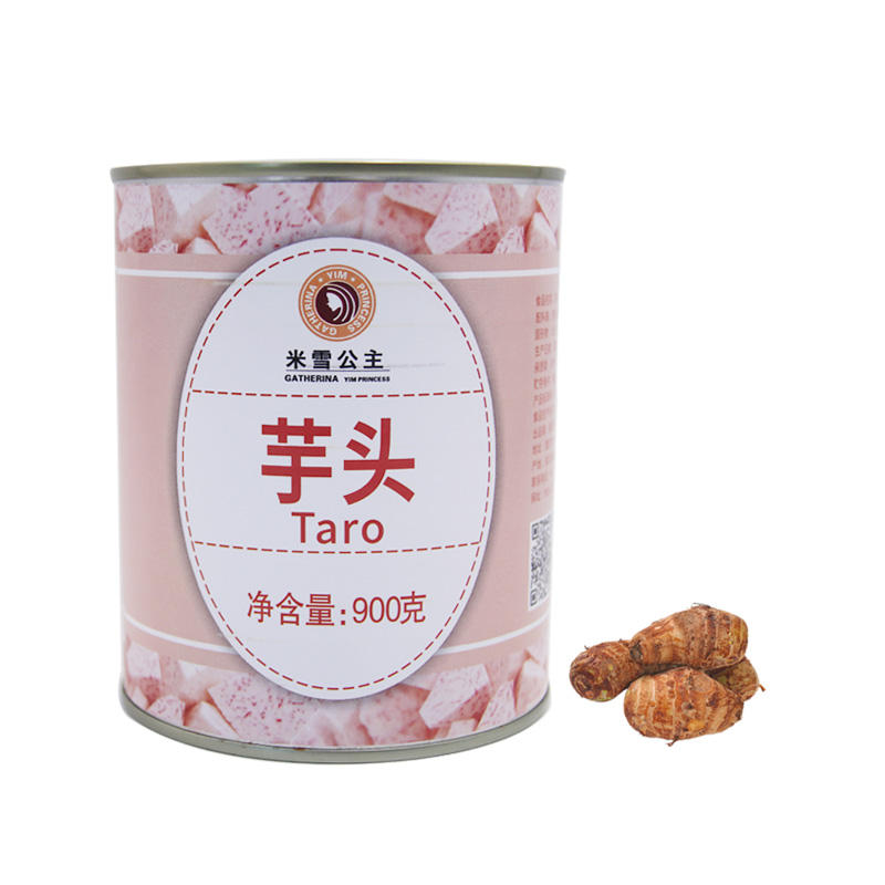 Canned taro 900g Canned grain Vegetables ready to eat instant can food for milk tea bread dessert