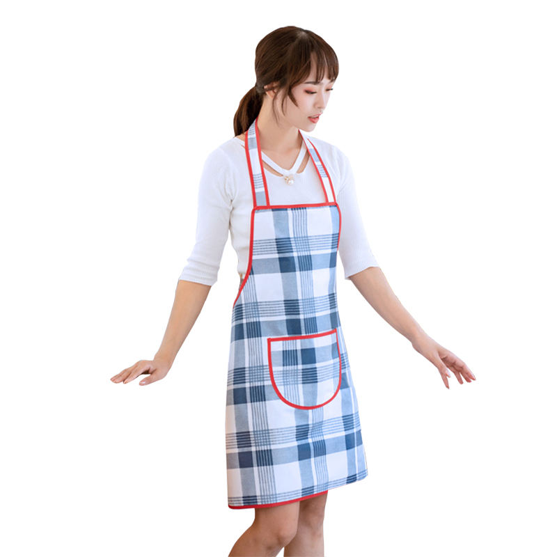 Hot Sale Cheap Custom New Cleaning Printed Apron Home Cooking PVC Plaid Apron