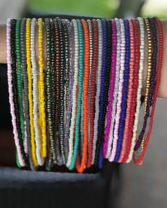 Factory price wholesale Bohemian multi layer colored rice bead waist beads