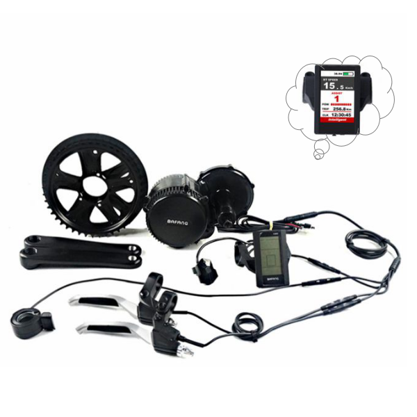 BAFANG 8fun 1000Watt BBSHD e bike mid drive crank motor kit with C965 LCD display