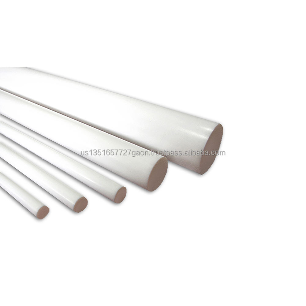 "PTFE ROD  Plastic  material  12 inch lengths: Diameters -1/8""  3/16""  1/4""  5/16""  3/8"" included in this pack of 5 Rods"