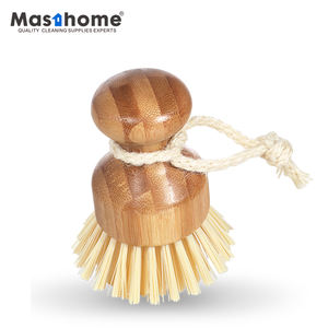 Masthome eco-friendly cleaning brush Nature hemp bristles Kitchen Round Bamboo Dish Pot dish Palm eco washing brushes