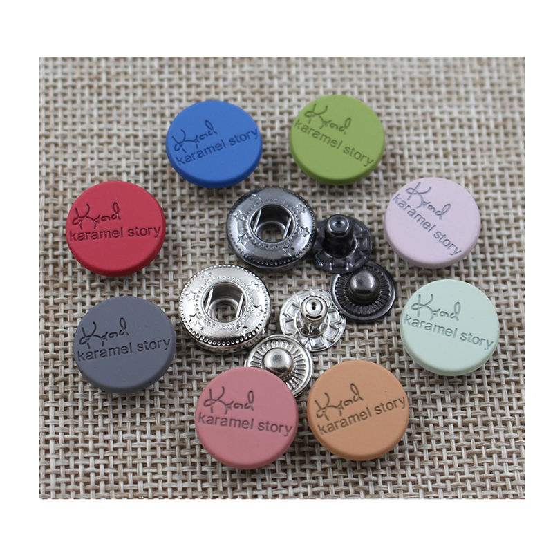 Factory wholesale fashion 15mm new design metal decorative color spring snap button,four parts snap button for clothing