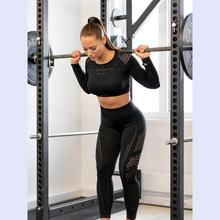 Shark Colors Women Seamless Long Sleeve Track Suit Sports Yoga Clothing Gym Set