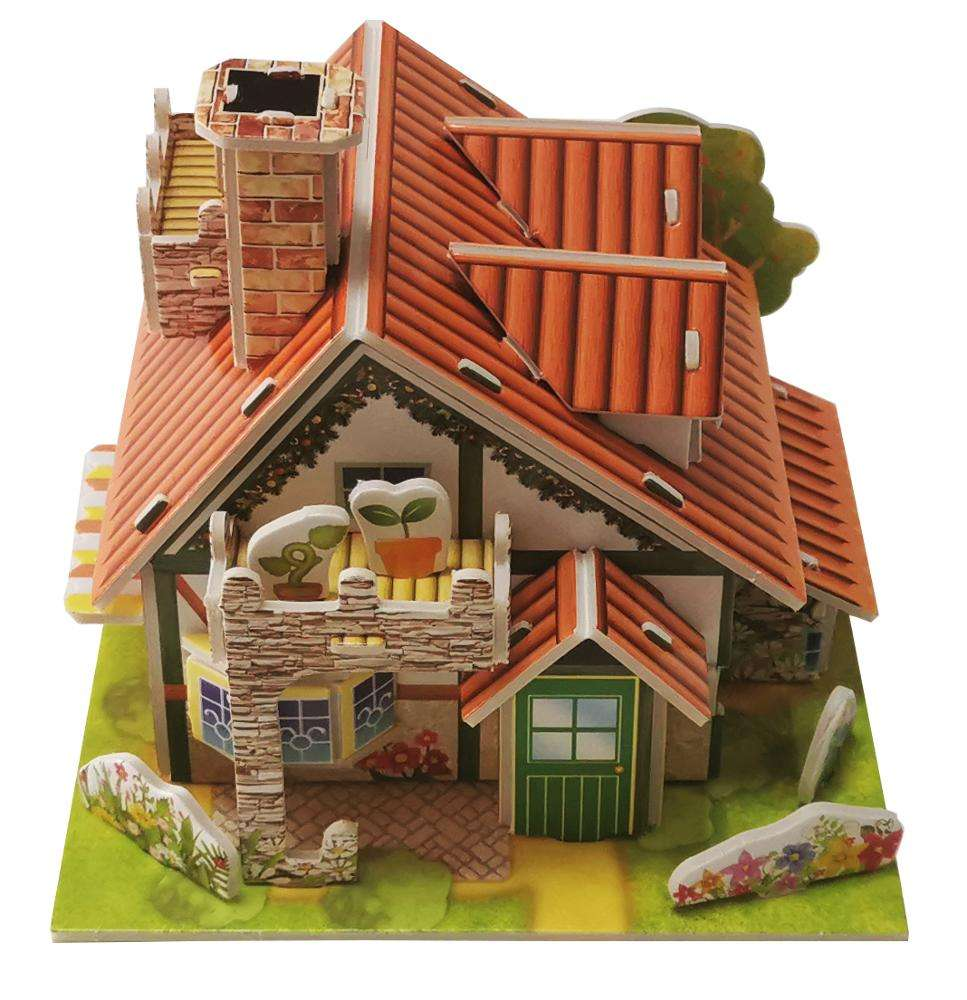 Forest Cabin DIY Custom Handmade 3D Paper Puzzle Bomber Model Jigsaw Puzzle