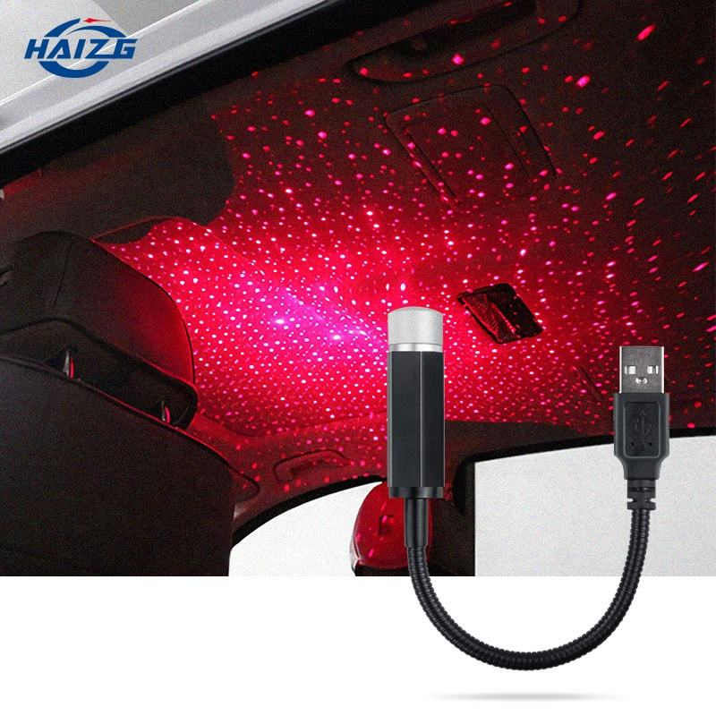 Car USB Led Starry Sky Projector Lamp Accessories Interior Decorative Car Roof Top Ceiling Star Light