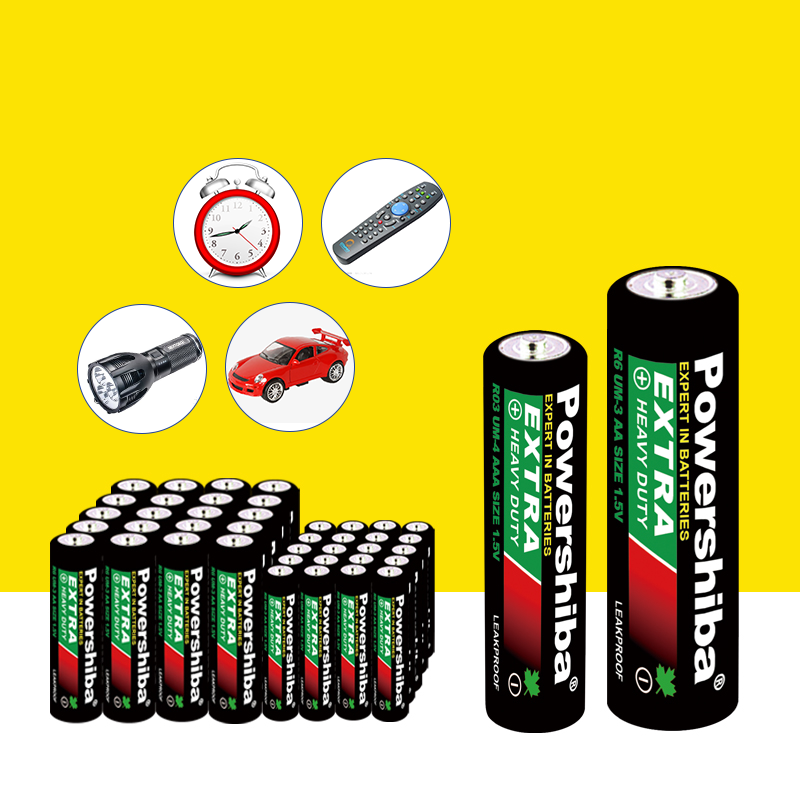 R6P 1.5V Um-3 AA Zinc Carbon Battery AA, Um3 AA Battery R6P Non-Rechargeable battery