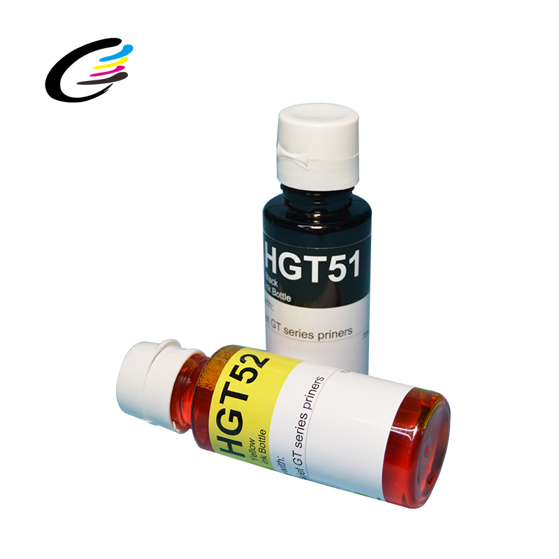 High Quality 70ml/bottle GT52 GT51 4 colors refill dye ink suitable for HP 5810