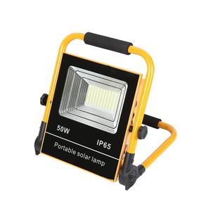 High Power outdoor camping emergency portable waterproof ip65 50w 100w solar led flood light