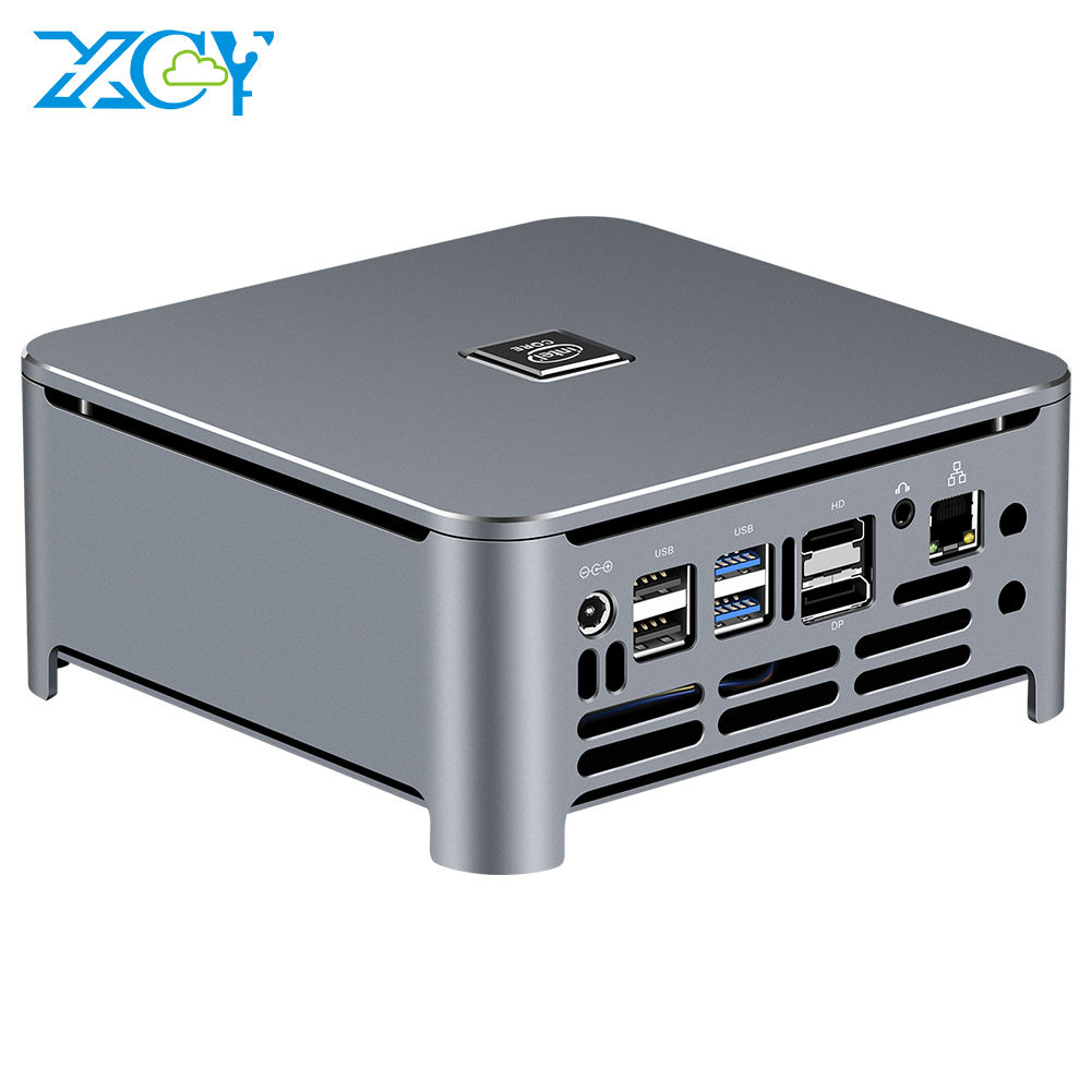 XCY Gaming pc core i5 9400H i7 9850H mini pc 8th 9th RTC PXE ordinateur de bureau DDR4 barebone system