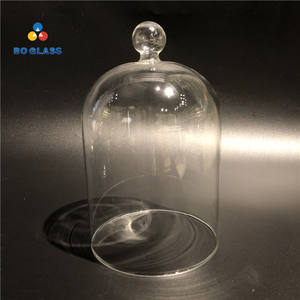 High Quality Blown Clear Decorative High Borosilicate Glass Display Cover Cloche Bell Dome