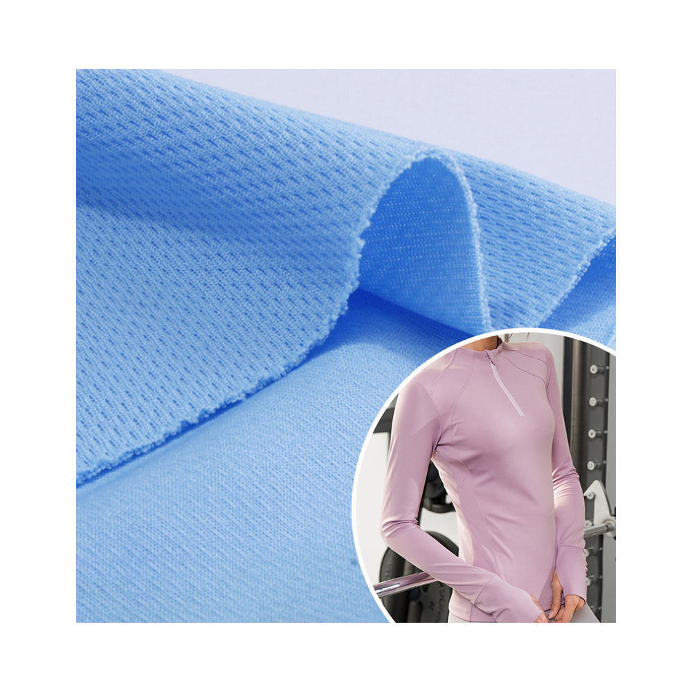 100 polyester breathable bird eye fabric