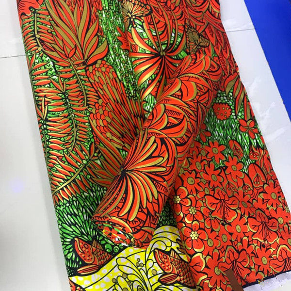 Wholesale 100% Cotton Super Golden Wax Fabrics Holland Wax Print Ankara