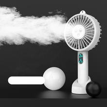 2021 New Design CE FCC patent factory Portable Water Spray Mist Fan Electric USB Rechargeable Hand Mini Fan