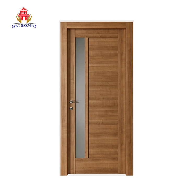Fireproof Wood Door Interior Office Room Door With Glass Window Certificated Fire Rated School Classroom Door