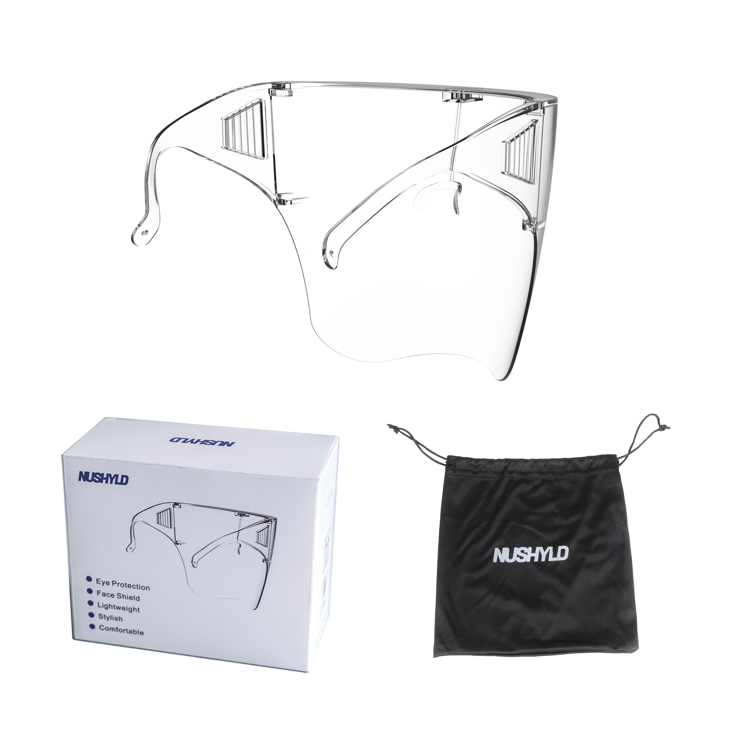 Reusable Safety Eyewear Protective Transparent Anti-fog Blocc Face Shield For Eye Protection
