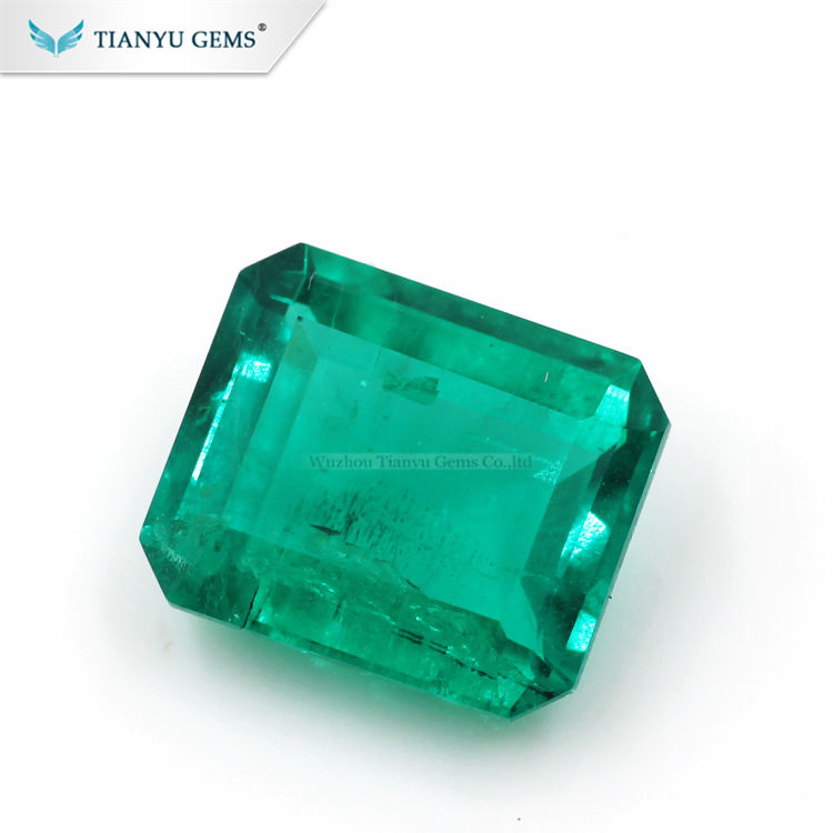Wholesale Colombian Emerald emerald cut 7*9mm synthetic emerald stone