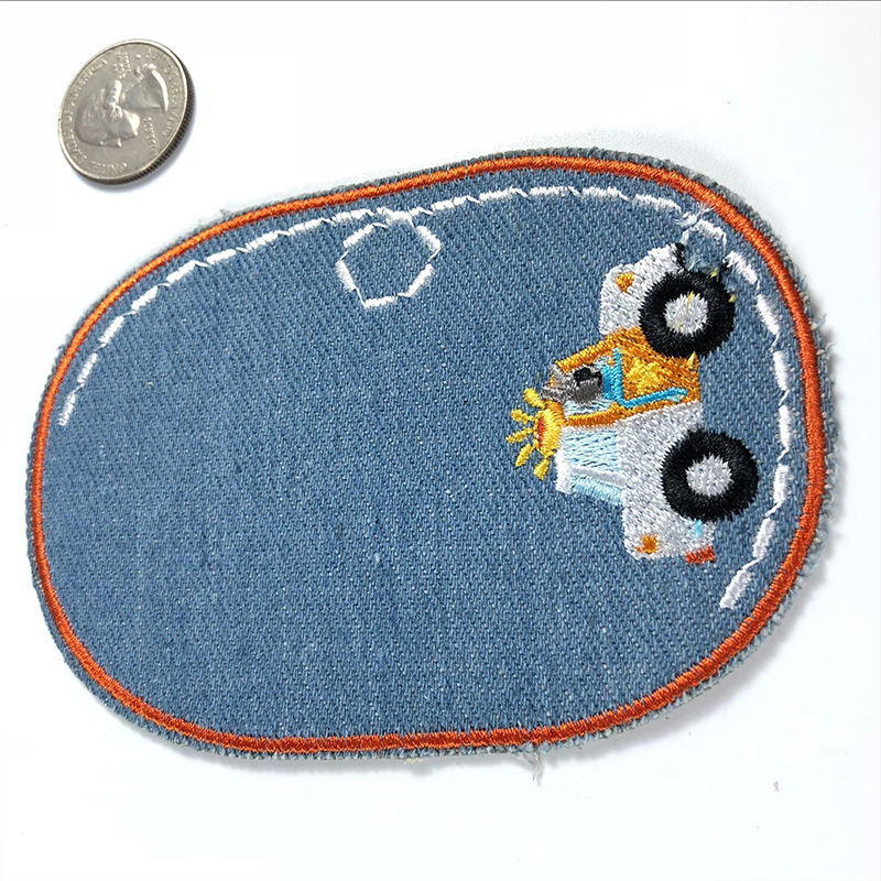 According to embroidery The cowboy car subsidies computer embroidery chapter cartoon DIY lovely patches