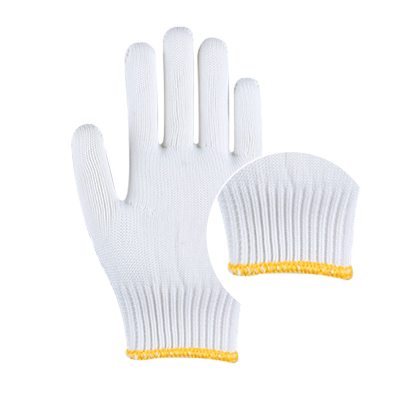 21-26cm Size and White Color of thread cotton knitted gloves