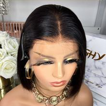 SHY New Collection 10Inch Cheap Swiss Lace Wig , Natural Black 130% Raw Indian Lace Wig 10A Hair,Lace Front Human Hair Wigs